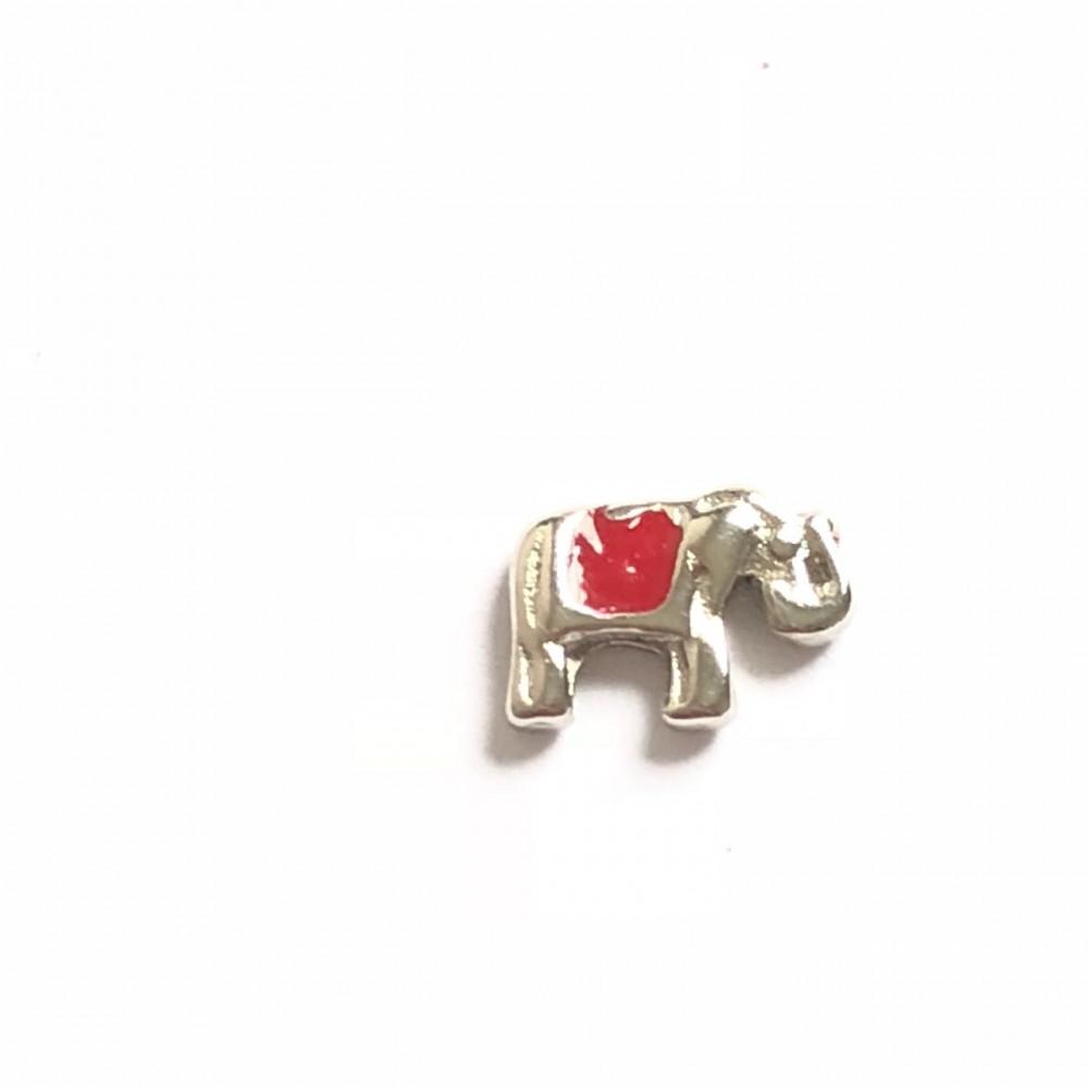 MCH-07 Mini Charm Elefante vermelho