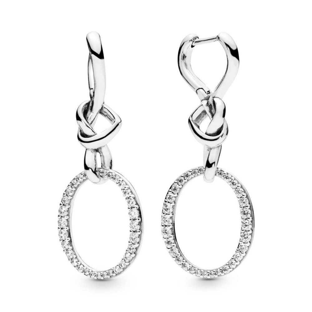 Brincos Love Elegante Prata 925 e Zirconias