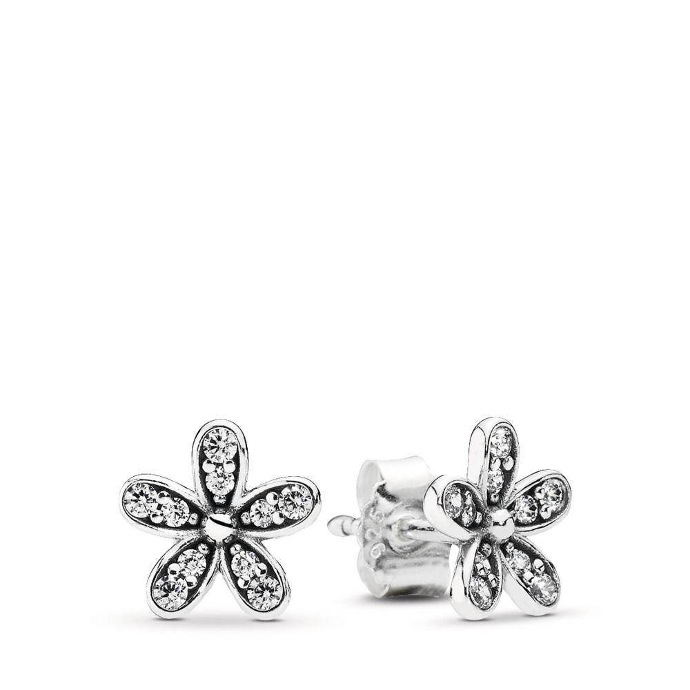 Brincos Flor Bem Me  Quer em Prata 925e Zirconias Brancas