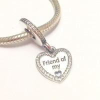 Pingente Friends Of My Heart em Prata 925 e