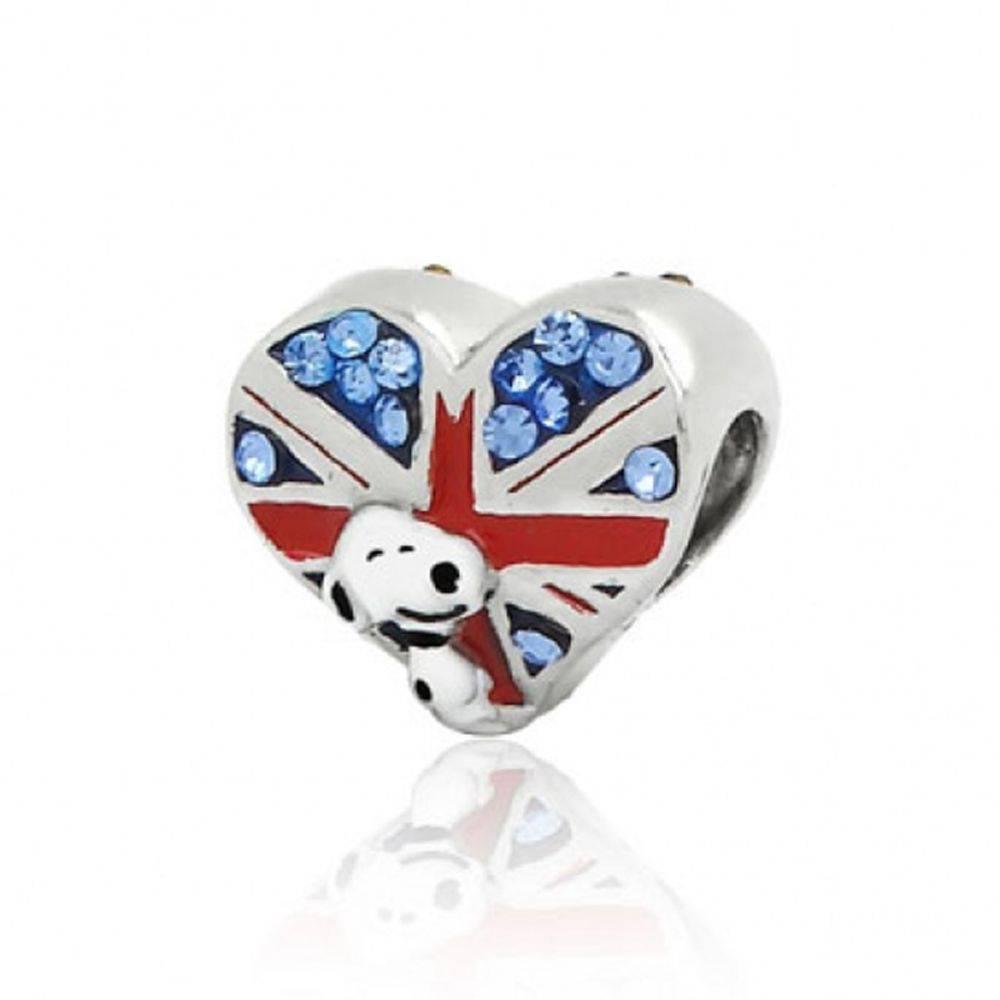 Berloque Snoopy e a Bandeira da Inglaterra