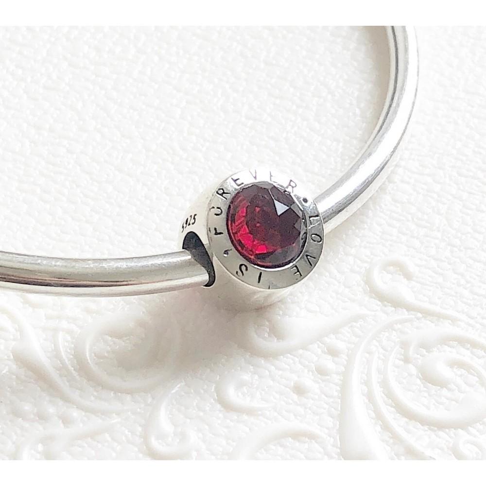 BE-218 Berloque Love Forever em Prata 925 Vermelho