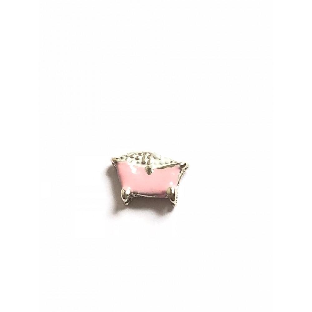 Mini Charm Banheira Rosa