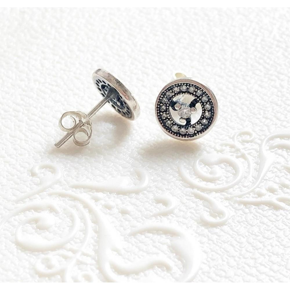 Brincos Mandala  Em Prata 925 e Zirconias