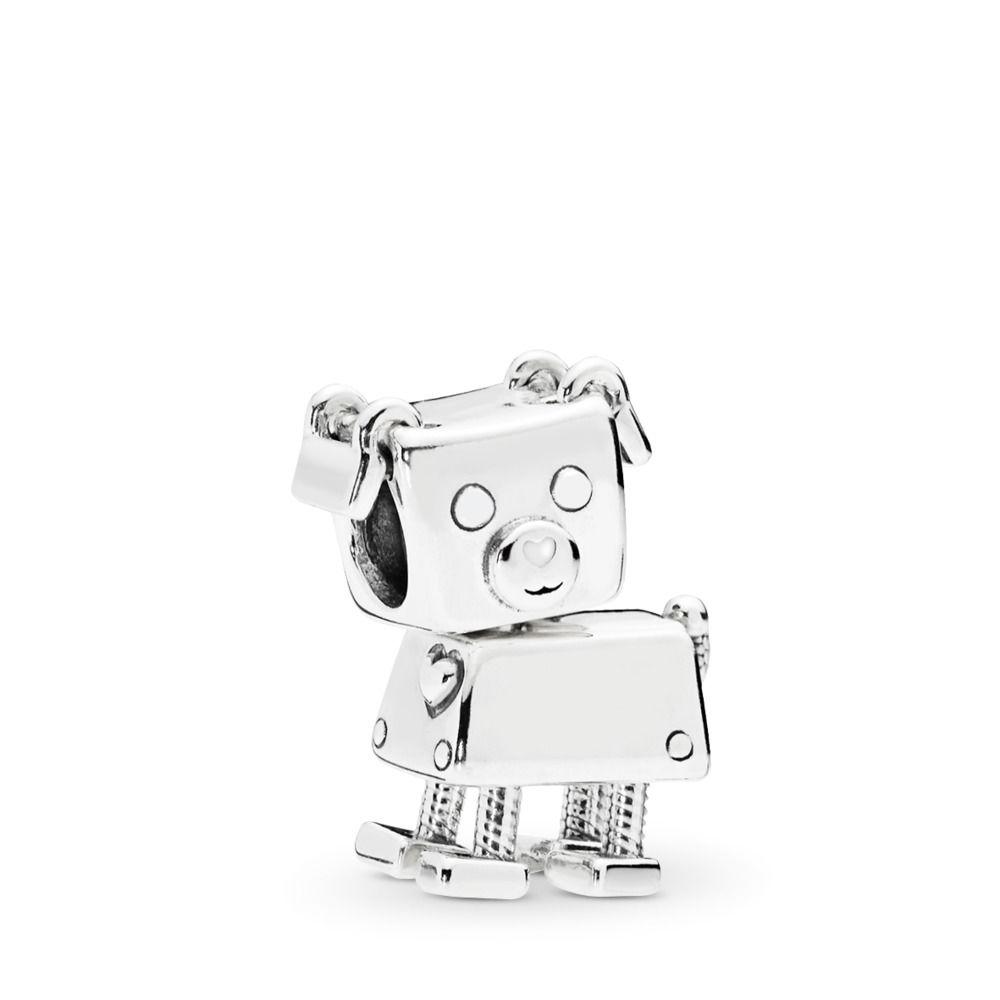 BE-49 Berloque Bobby Bot Cachorrinho Prata 925