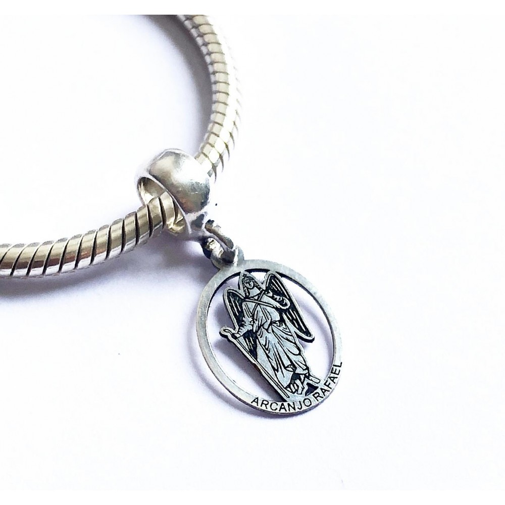 Pingente Arcanjo Rafael em Prata 925