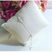 Pulseira Lover Prata 925 Zirconia branca