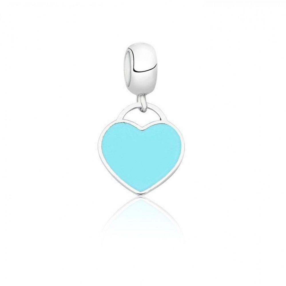 Berloque Coração verde Tiffany