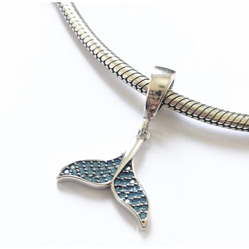 Pingente Cauda de Sereia em Prata 925