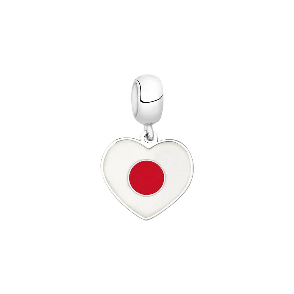 PG-177 Pingente In Love Japão em Prata eEsmalte