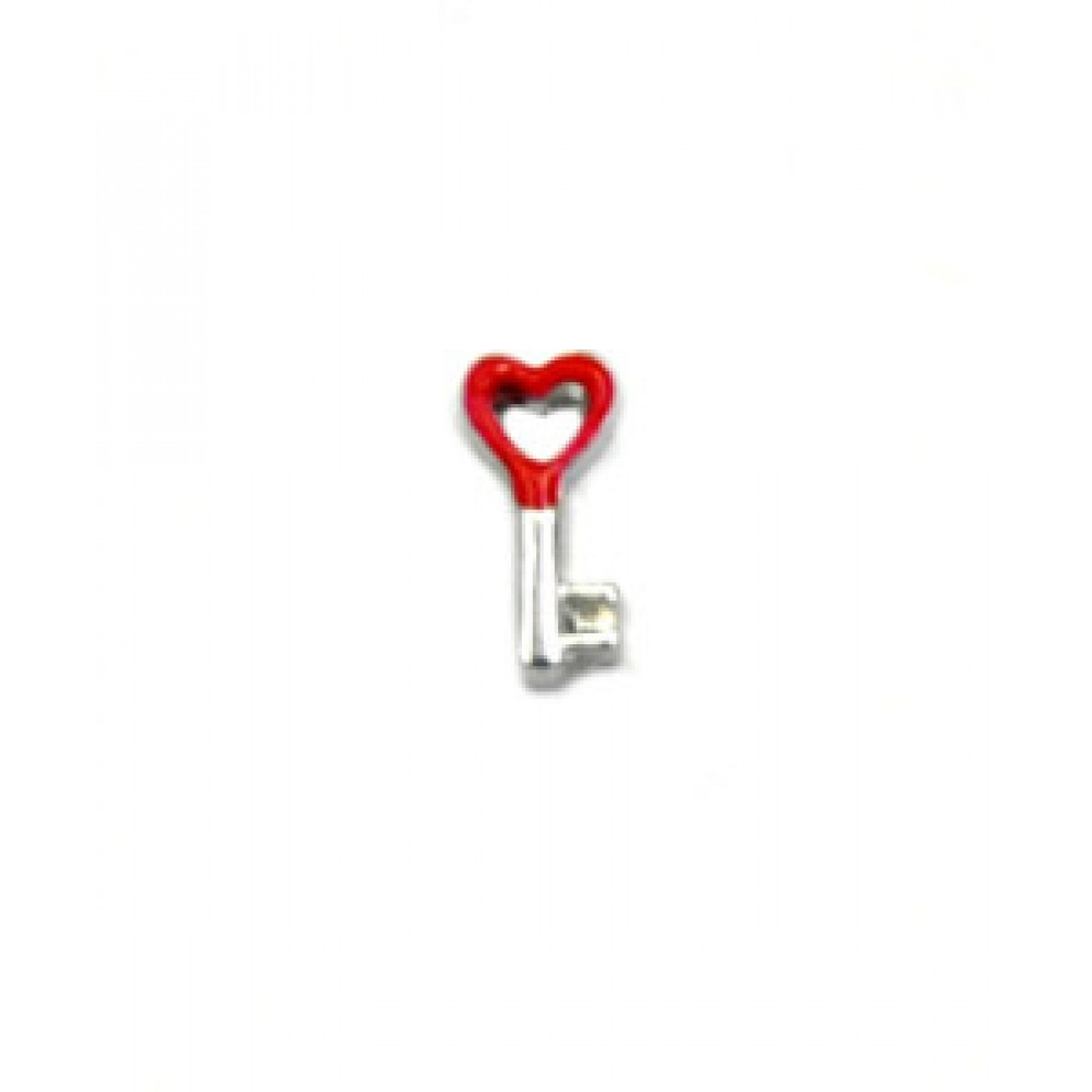 Mini Charm Chave Do  Amor