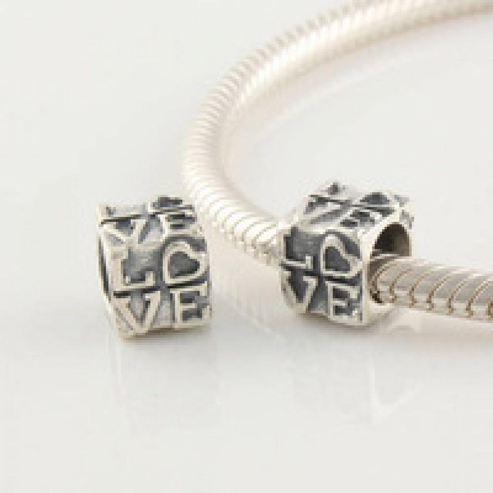 BE-354 Berloque/ Separador  Love Em Prata