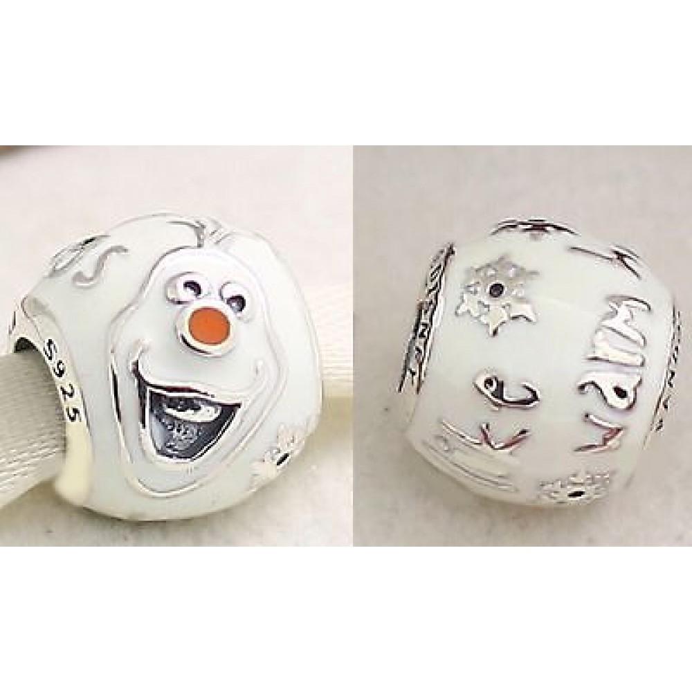 BE-362 Berloque Frozen Olaf em Prata 925