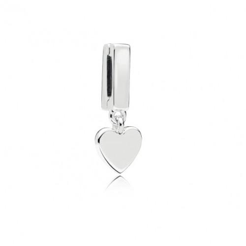 BER-10 Coração único Reflexo em Prata 925
