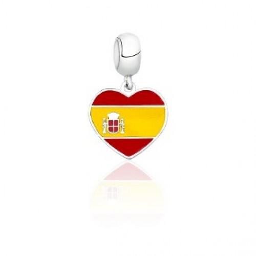 Pingente In Love Espanha em Prata 925
