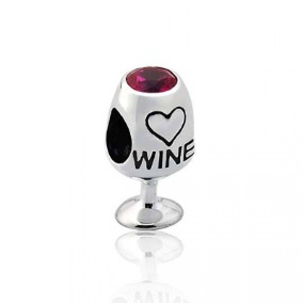 Berloque Taça de Vinho in Love