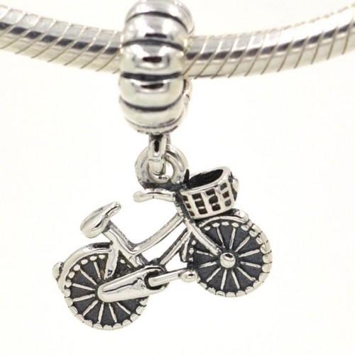Pingente Bicicleta Vintage Prata 925