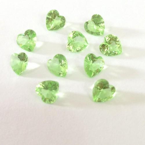 Mini charm Coração  Crystal Verde
