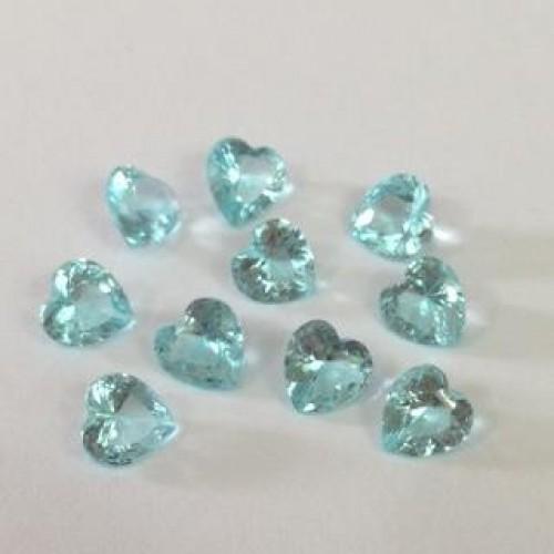 Mini Charm  coração Crystal Verde Mar