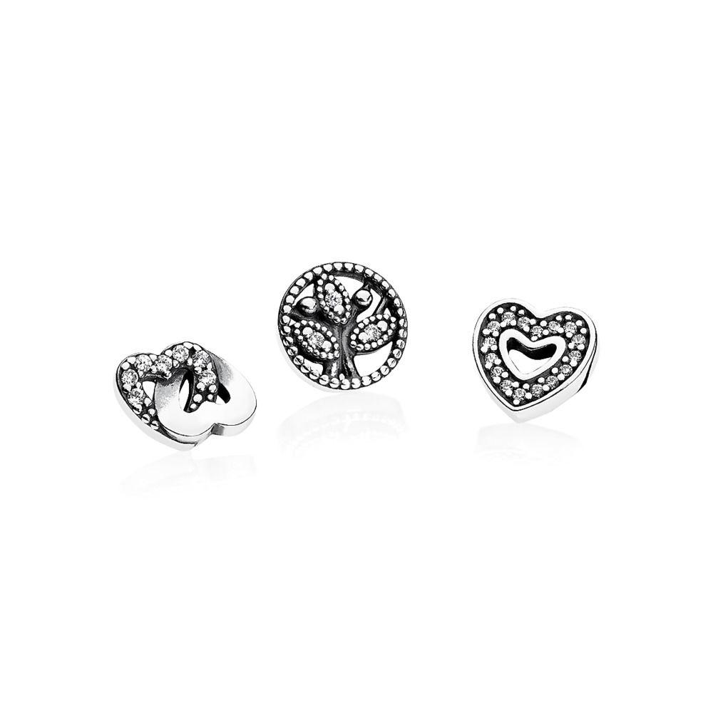 Trio Mini Charms Loved ( Para cápsulas) Prata 925