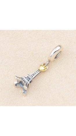 Pingente Torre Eiffel In Love Prata 925
