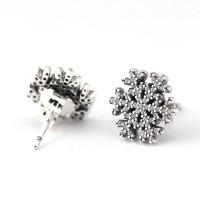 Brincos Floco de Neve em Prata 925 e Zirconias