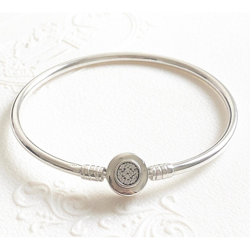 Bracelet Forever Fecho Zirconias  em Prata 925