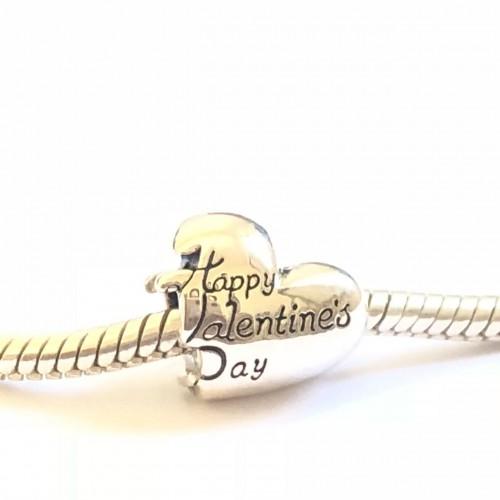 Feliz Dia dos Namorados  Prata 925 Coração