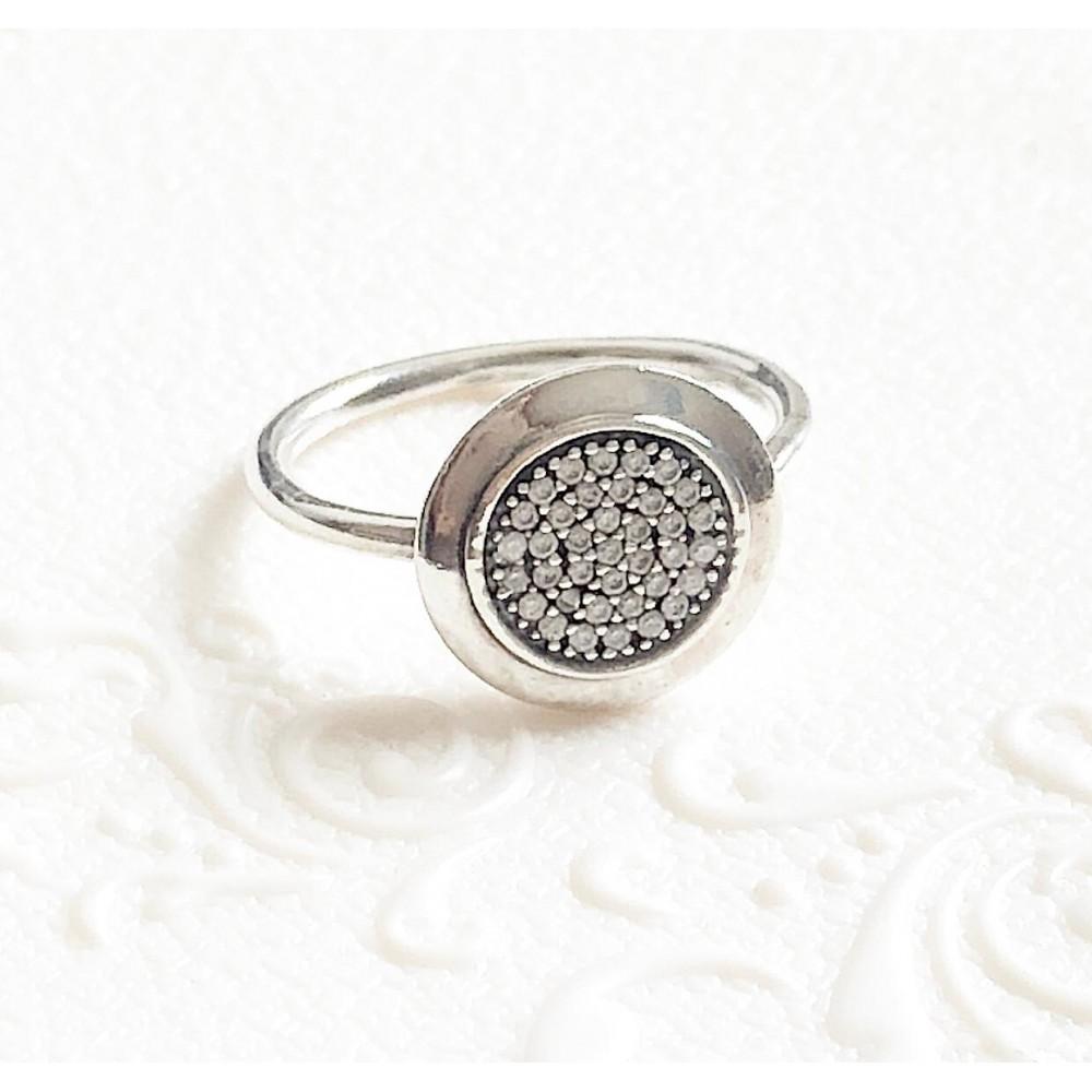 Anel Cravejado Forever  Zirconias Brancas Prata 925