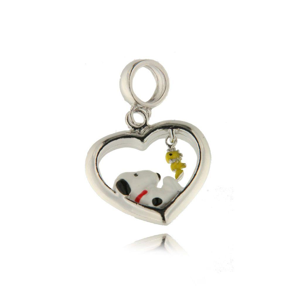 Pingente Snoopy e seu inseparável  Pássaro amarelo.
