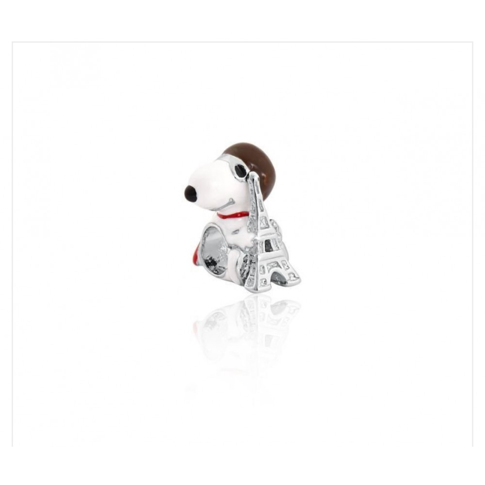 BE-308 Berloque Snoopy Aviador in love Paris