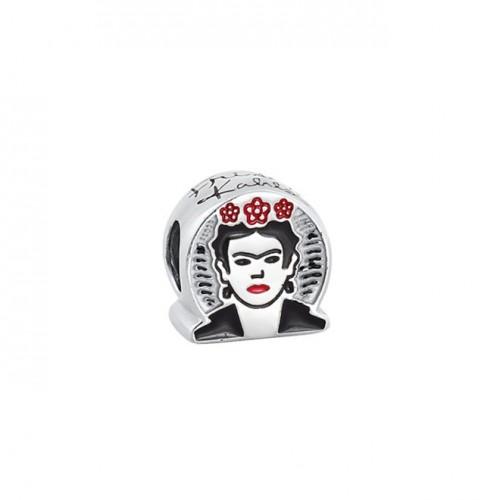 Berloque Frida Kahlo Auto Retrato Prata 925
