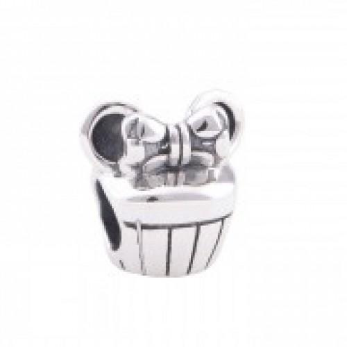 BE-119 Berloque Cupcake Mouse Em Prata