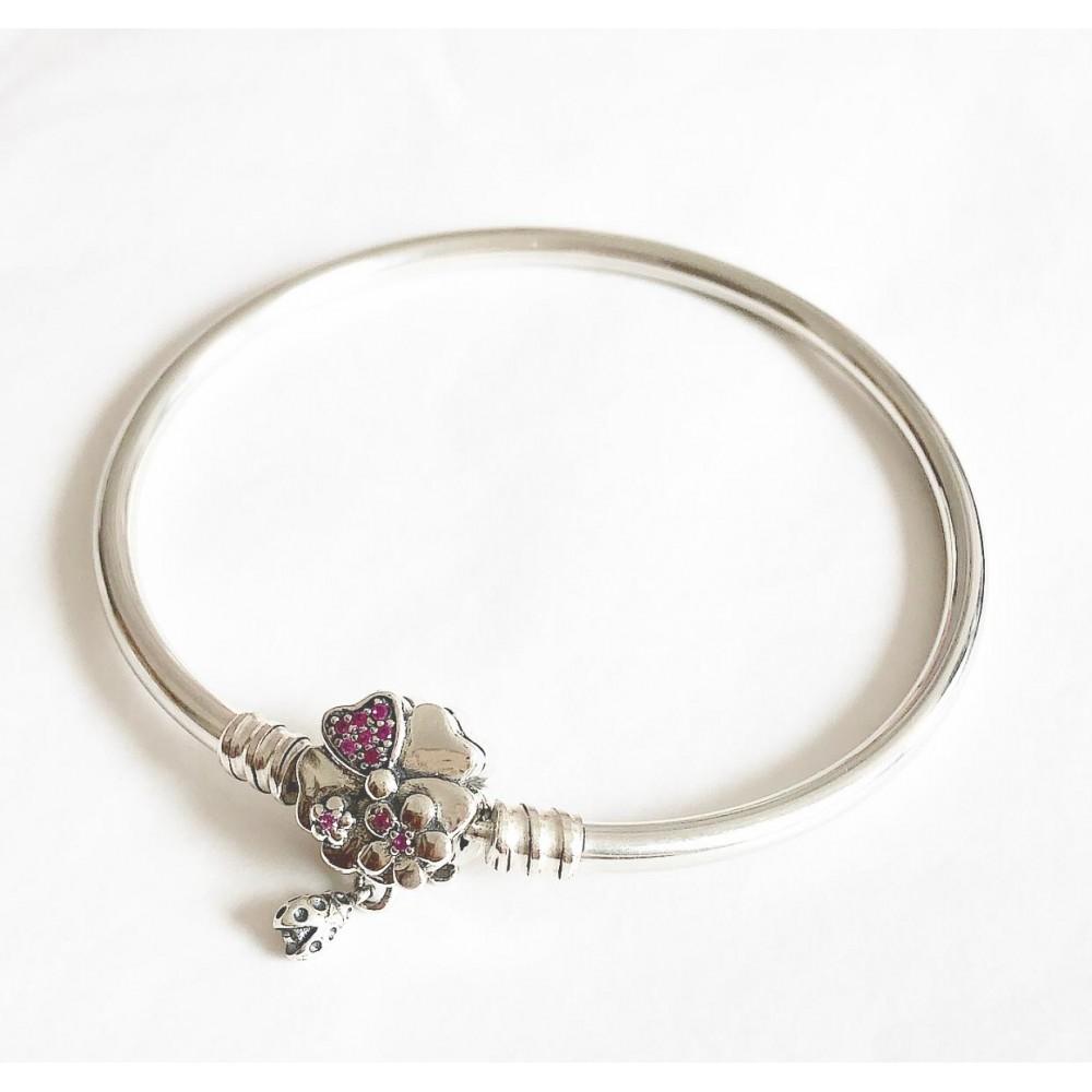 Bracelet Flor Joaninha em Prata e Zirconias