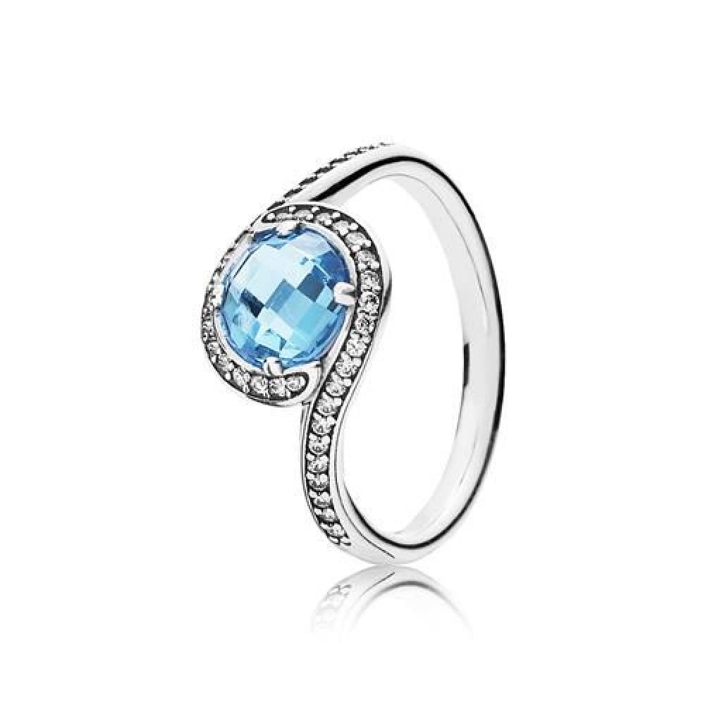 Anel Luxuosa Rosa Azul Polar