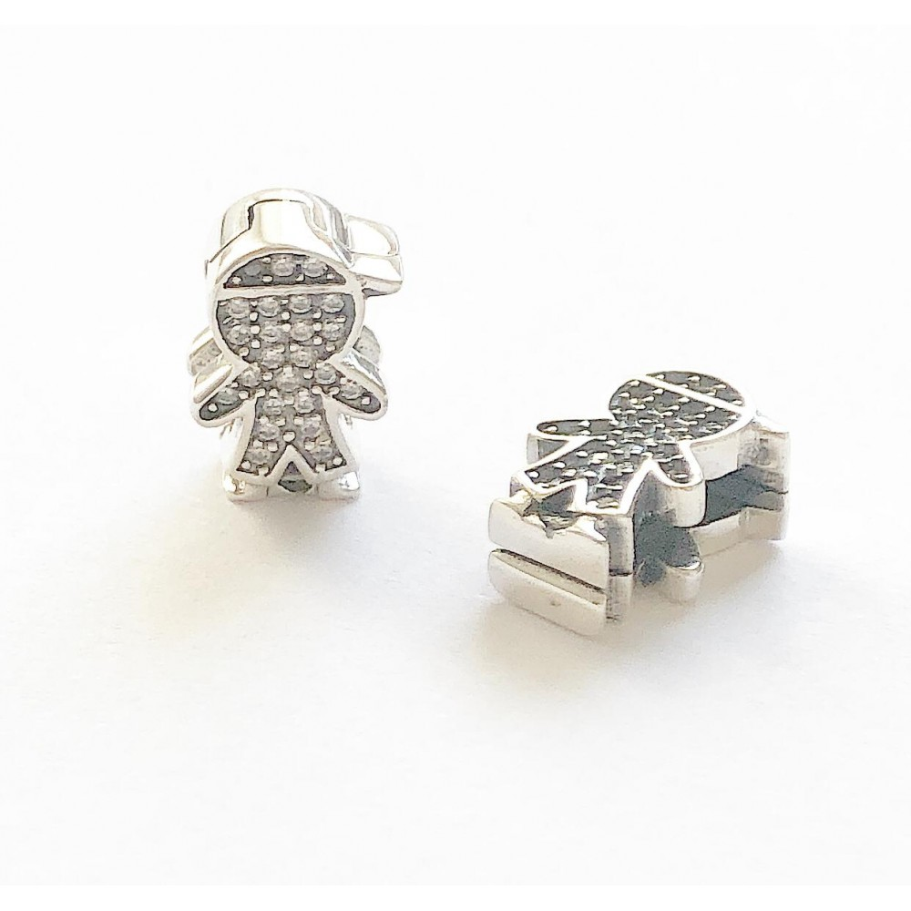 Garotinho Prata 925 e zirconias Reflexo