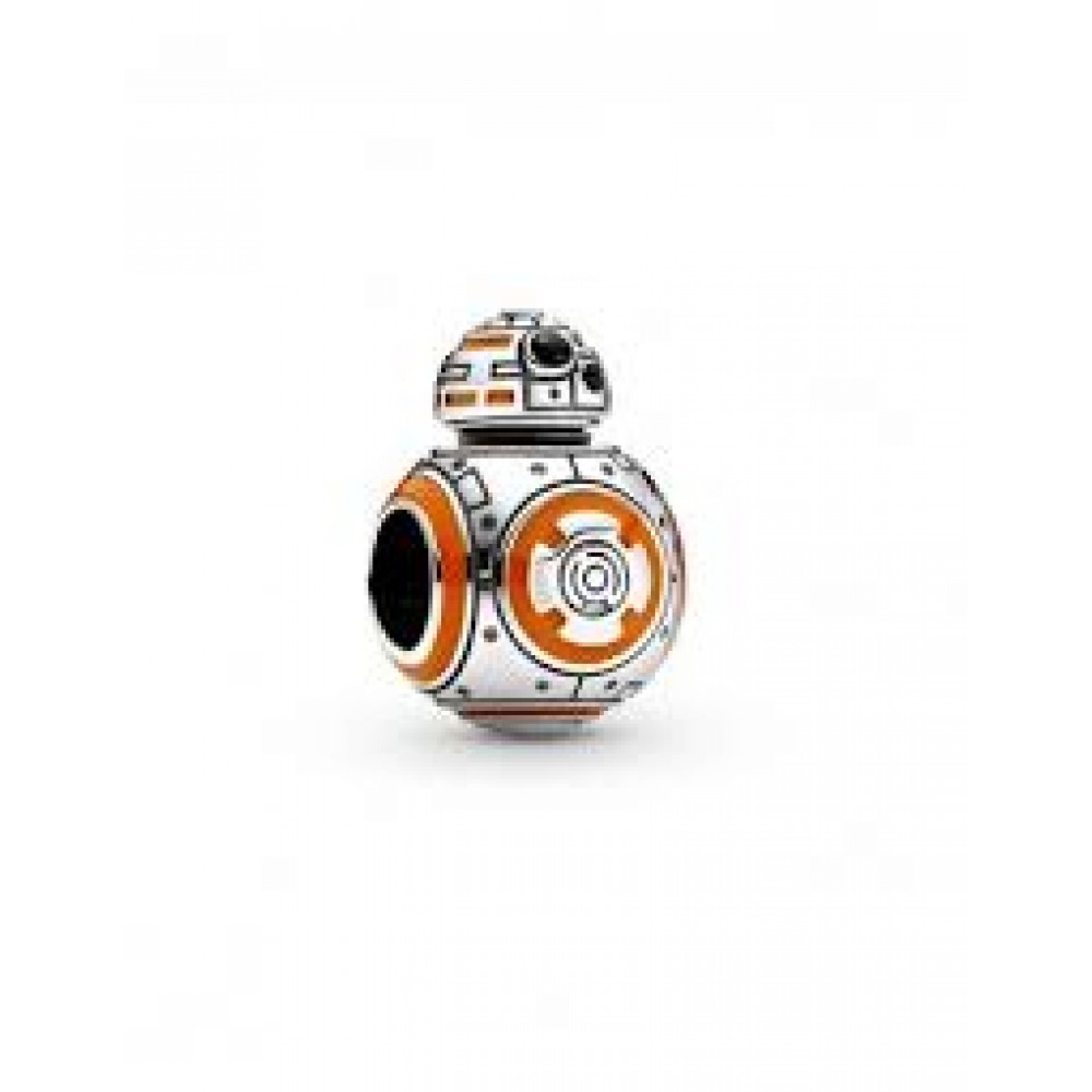 Berloque Robô Bb-8 (star wars) Prata 925