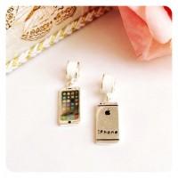 PG-190 Pingente Iphone em Prata e Esmalte