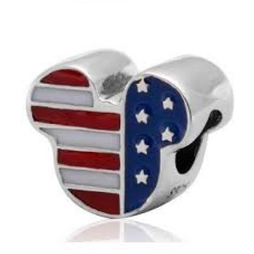Ratinho  Love Usa em Prata 925 e Esmalte