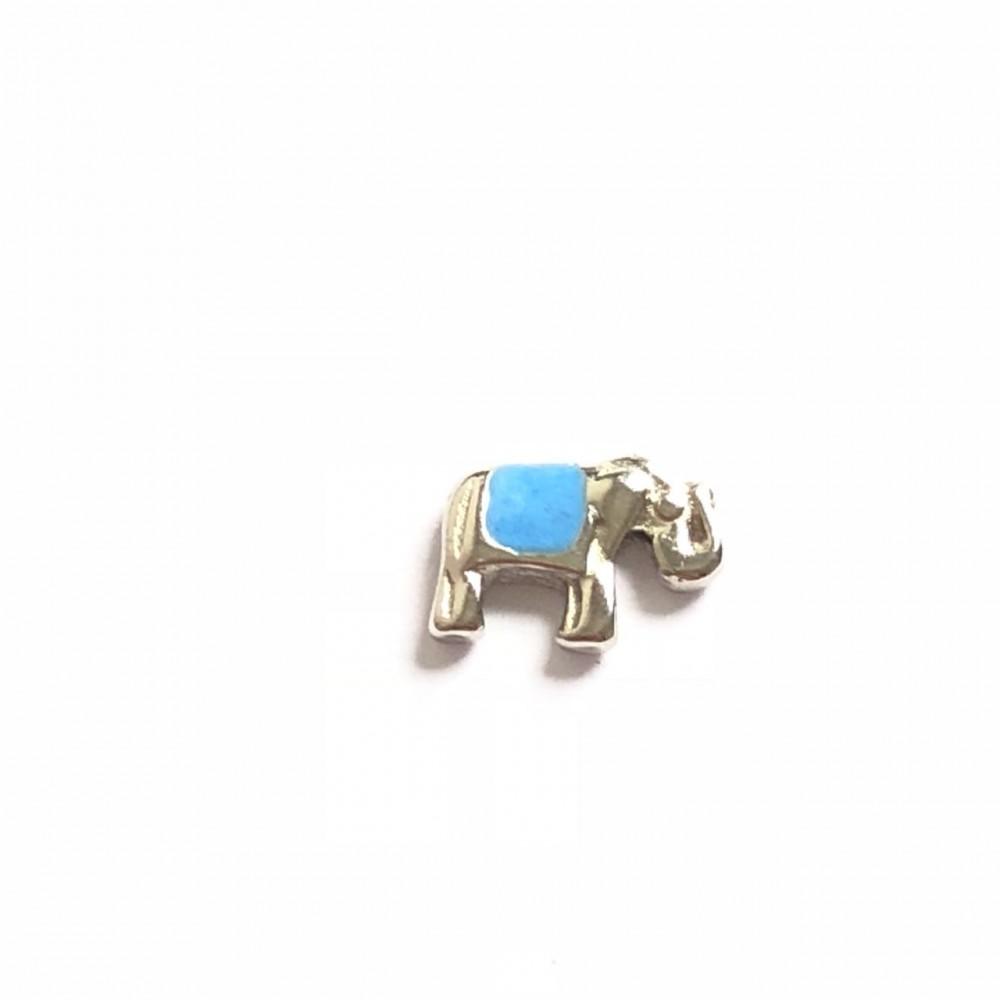 MCH-06 Mini Charm Elefante azul