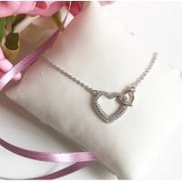 Gargantilha Love Corações em Prata 925