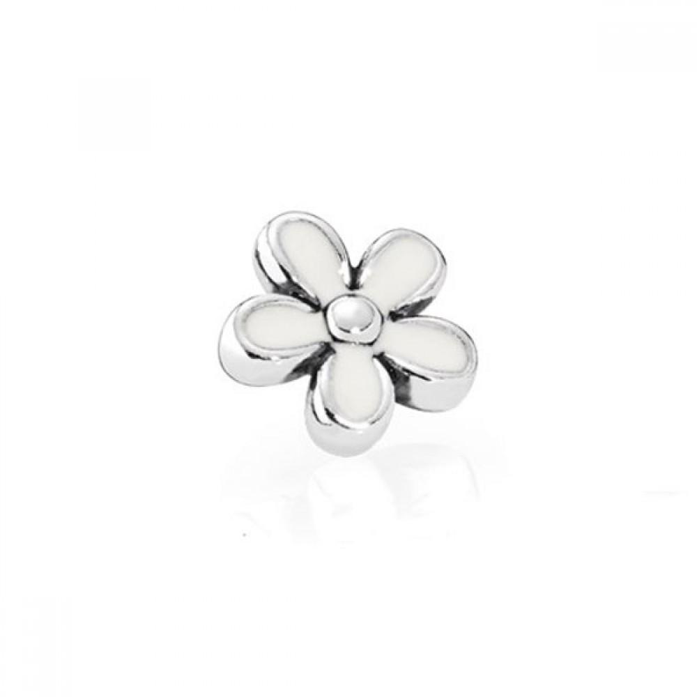 Mini Charm Petit Flor  margarida  ((Para Cápsulas) Prata 925