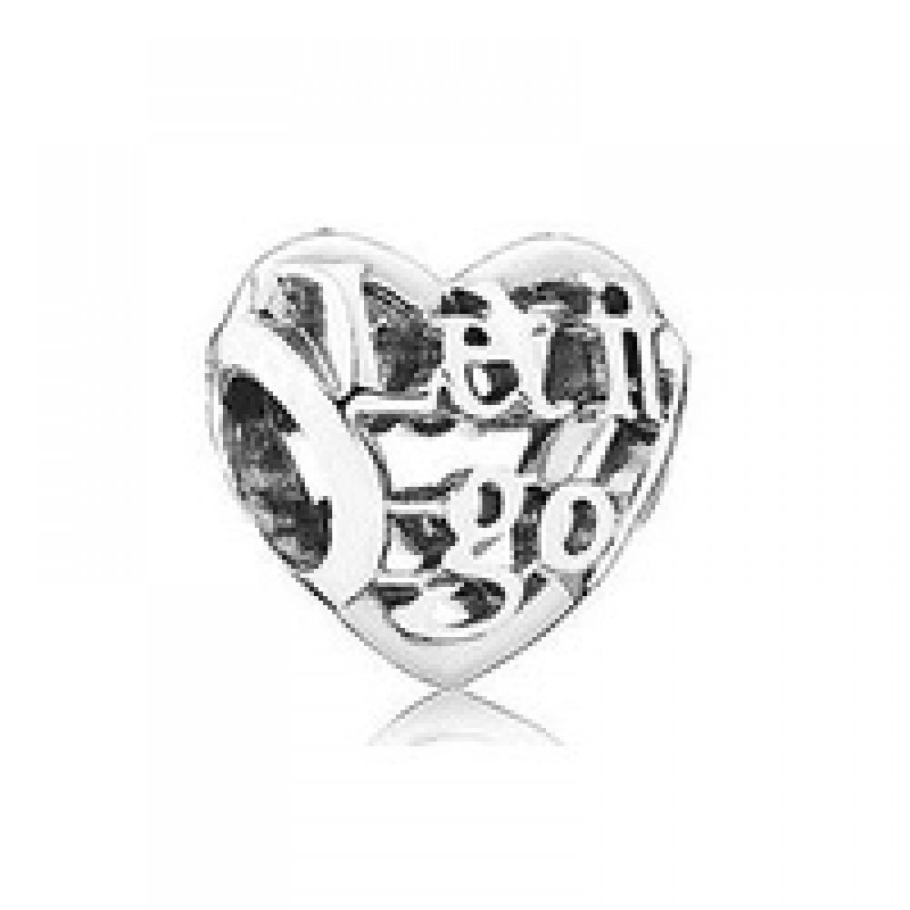 BE-380 Berloque Coração da Princesa Elsa em Prata 925