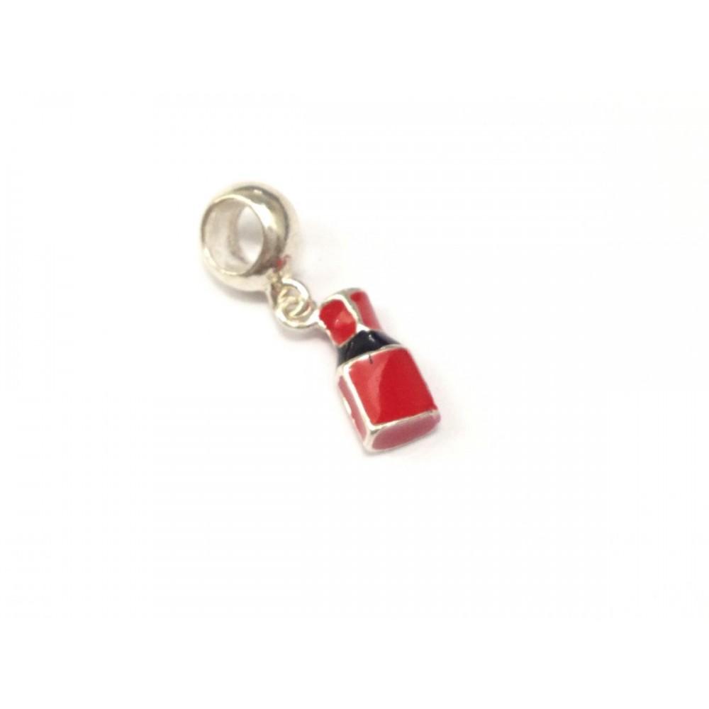 PG-300 Pingente Poderoso Esmalte em Prata 925 Vermelho
