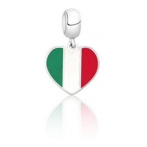 PG-161 Pingente I Love Itália em Prata e Esmalte