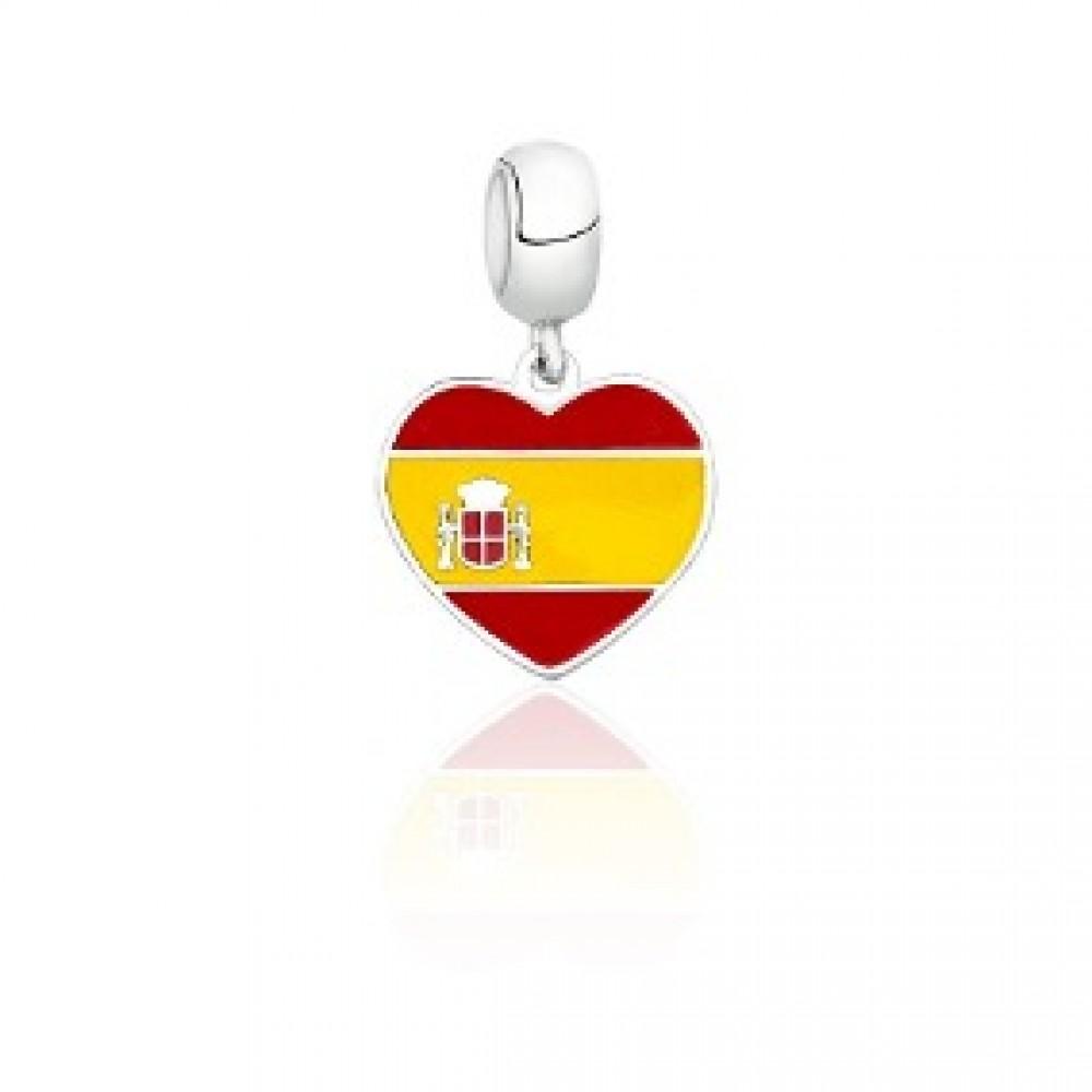 PG-175 Pingente In Love Espanha em Prata 925