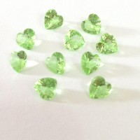 MCH-49 Mini charm Coração  Crystal Verde