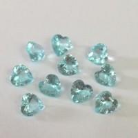 MCH-15 Mini Charm  coração Crystal Verde Mar