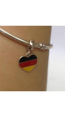 PG-170 Pingente In Love Alemanha Prata/Esmalte