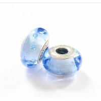 MU-03 Murano Azul celeste Prata 925 e Vidro ( und)